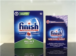 Combo: Viên Finish All ine one 52 viên + Muối Finish 1.2kg