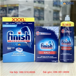 Combo: VRB Finish Classic 100 viên + Muối Finish 1.5kg + Bóng Finish 750ml